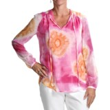 Audrey Talbott Abby Tie-Dye Tunic Shirt - Silk, Long Sleeve (For Women)