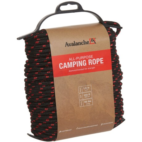 "Avalanche All-Purpose Diamond-Braided Rope - 1/4""x100'"