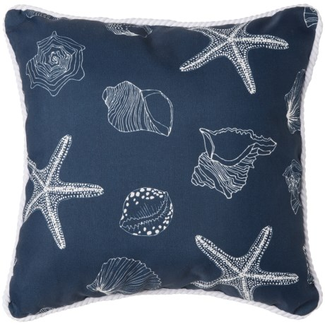 Brentwood Starfish Print Indoor/Outdoor Throw Pillow - 17x17""