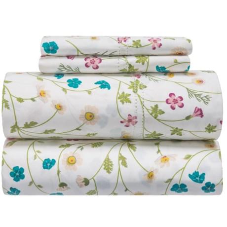 Melange Home Wildflower Sheet Set - King, 400 TC