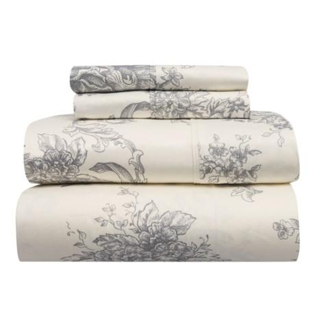 Melange Home Toile Cotton Sheet Set - Queen, 400 TC