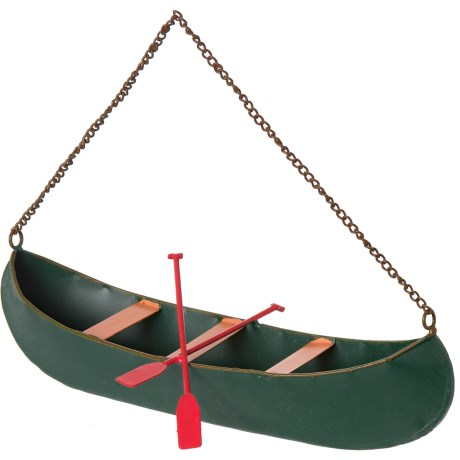Creative Co-op Metal Canoe Wall Decor - 12x6x3.75""