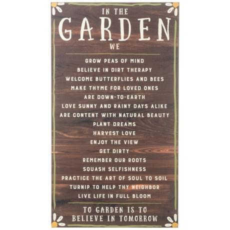 """Creative Co-op 18x31.75"""" In the Garden Wall Decor"""