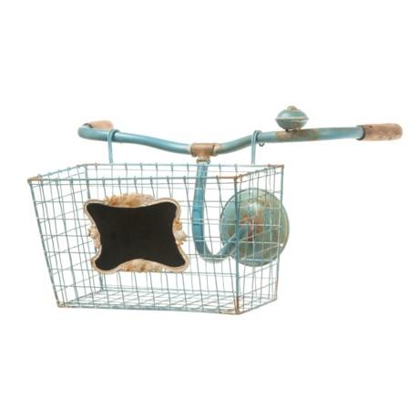 "Creative Co-op 18.5x12.25"" Tin Open-Weave Bike Basket Wall Decor"