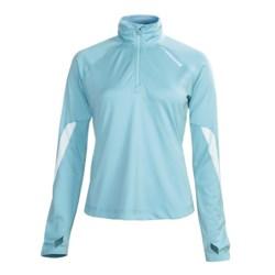 Brooks Essential Run Shirt - Zip Neck, Long Sleeve (For Women)