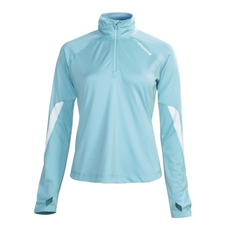 Brooks Essential Run Shirt - Zip Neck, Long Sleeve (For Women)