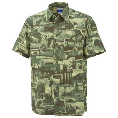Columbia Sportswear False Peak Print Shirt - Short Sleeve (For Big and Tall Men)