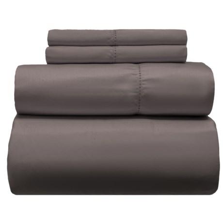 Melange Home Solid Hemstitch Cotton Sheet Set - Full, 400 TC