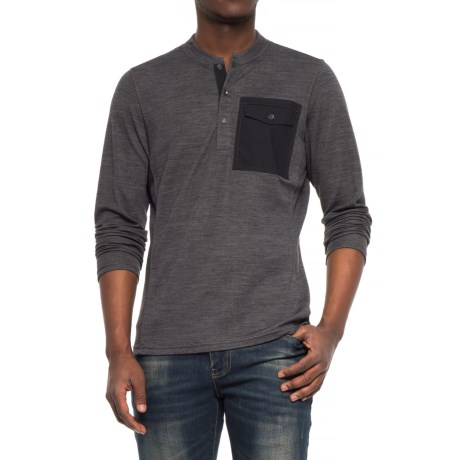 NAU Randygoat Lite Henley Shirt - Long Sleeve (For Men)