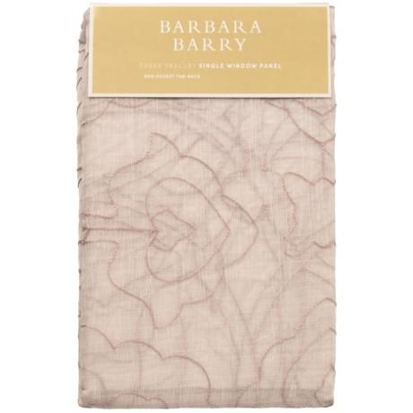 "Barbara Barry Sheer Tracery Single Window Panel - 50x84"""