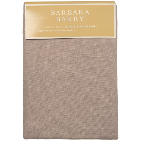 "Barbara Barry Modern Drape Single Window Panel - 35x63"""