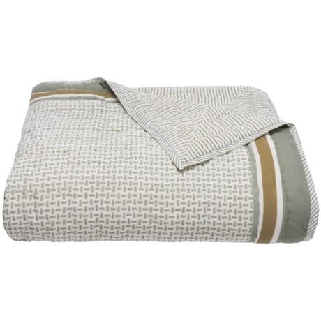 Suchira Harbor Fog Block Printed Comforter - Queen, Reversible