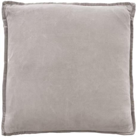 """Devi Designs Solid Velvet Pillow - 20x20"""", Feathers"""