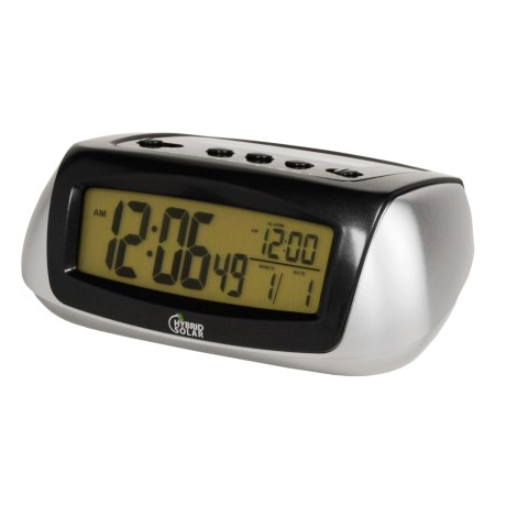 Equity by La Crosse Technology Hybrid Solar Alarm Clock