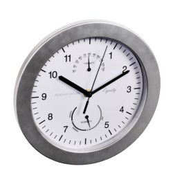 """Equity by La Crosse Technology Brushed Titanium Wall Clock - 9-3/4"""""""