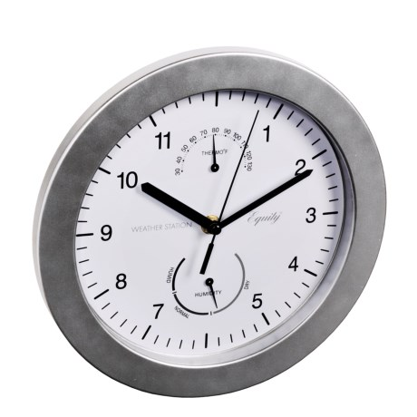 Equity by La Crosse Technology Brushed Titanium Wall Clock - 9-3/4""