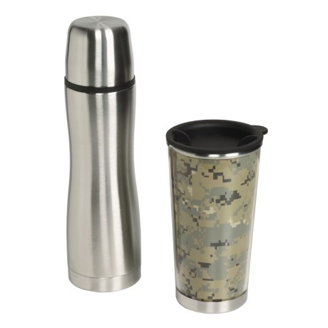 Liquid Solutions Wave Gift Set - Stainless Steel, Vacuum Bottle, Tumbler