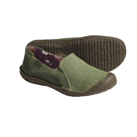 Keen Golden Summer Natural Canvas Shoes - Slip-Ons (For Women)