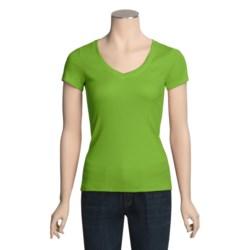 Arianne Pima Cotton Rib-Knit Shirt - Short Sleeve (For Women)