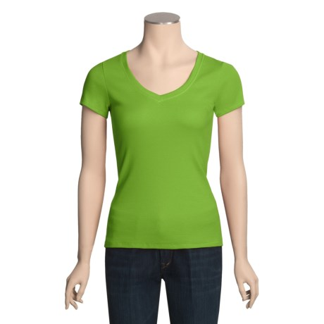 Arianne Pima Cotton Rib-Knit Shirt - Short Sleeve (For Women)