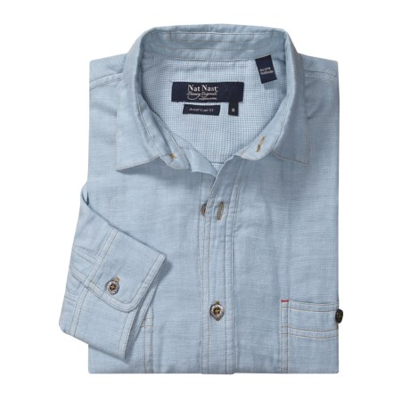 Nat Nast Make Mine a Double Shirt - Chambray, American Fit, Long Sleeve (For Men)