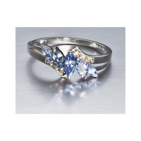 Millennium Creations Sterling Silver Ring - 10K White Gold