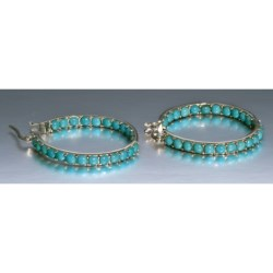 Silver Express Beaded Inside Out Hoop Earrings