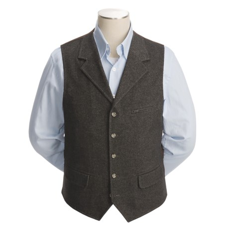 Kroon Rose Lapeled Vest - Wool Rich (For Men)