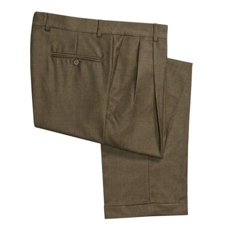 Barry Bricken Wool Glen Plaid Pants - Pleated, Cuffed (For Men)