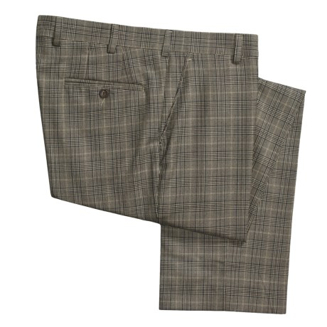 Barry Bricken Plaid Dress Pants - Wool (For Men)