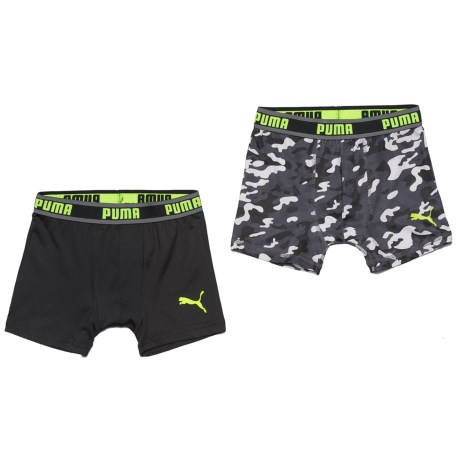 Puma Tech Camo Boxer Briefs - 2-Pack (For Boys)