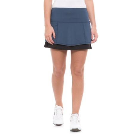 Lucky in Love Starburst Back-Pleated Tiered Skirt - UPF 30+, Built-In Liner Shorts (For Women)