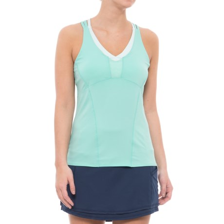 Lucky in Love Desert Shore Double Cross Tank Top - UPF 30+, Built-In Bra (For Women)