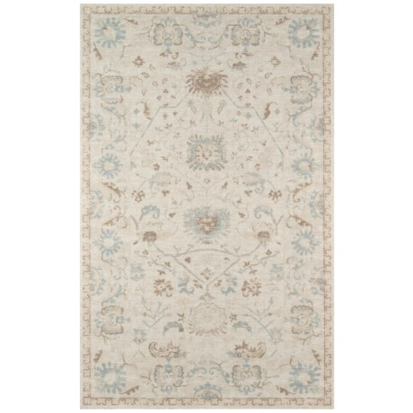 "Momeni Anatolia Transitional Floral Area Rug - 7'9""x9'10"", Wool-Nylon"