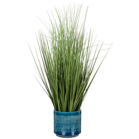 Siena Floral Accents Grass in Ceramic Pot
