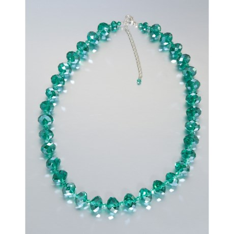 Majestic Faceted Bead Necklace - 20""