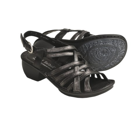 Josef Seibel Celeste Leather Sandals - Adjustable Strap (For Women)