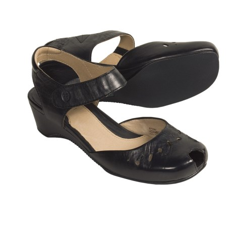 Josef Seibel Melissa Leather Sandals - Wedge Heel (For Women)