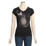 Trust Your Journey Soar Beyond T-Shirt - Organic Cotton, V-Neck, Short Sleeve (For Women)