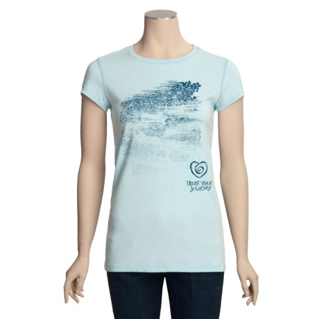 Trust Your Journey Breezy Journey T-Shirt - Organic Cotton, Stretch, Short Sleeve (For Women)