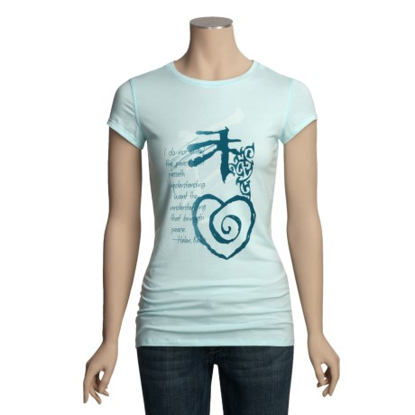 Trust Your Journey Understanding Peace T-Shirt - Organic Cotton, Short Sleeve (For Women)