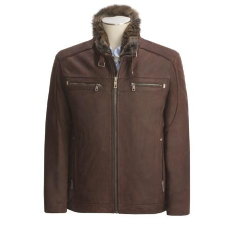 Andrew Marc Cafe Select Nubuck Jacket - Removable Rabbit Fur Liner (For Men)