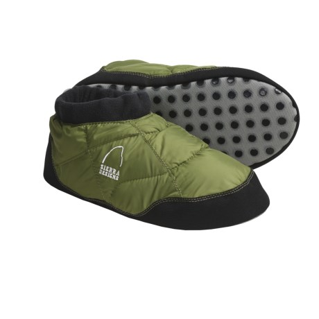 Sierra Designs Quilted Pattern Down Moccasins - 700 Fill Power (For Men)