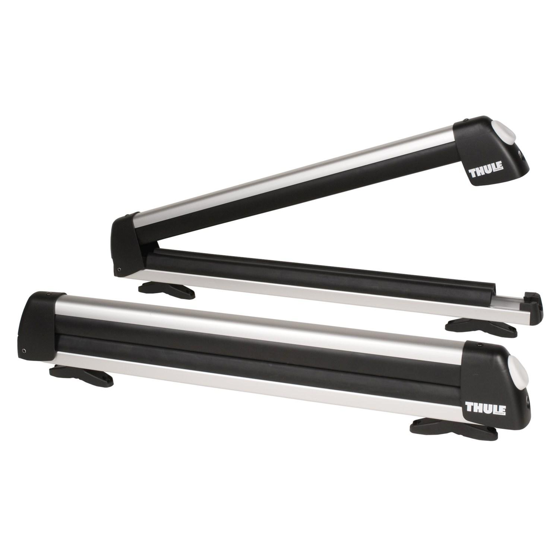 Thule universal flat top ski and snowboard rack 4148n for Thule fishing rod holder