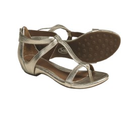 Sofft Ravia Gladiator Metallic Thong Sandals - Leather (For Women)