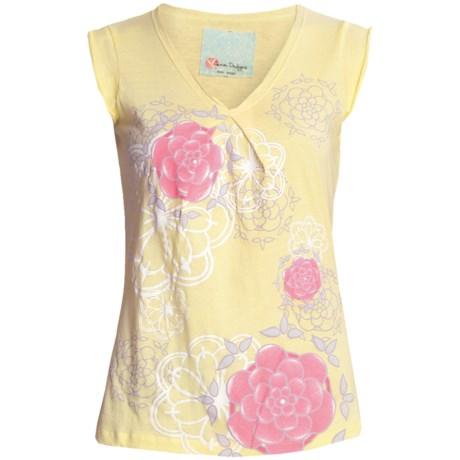 Carve Designs Santa Barbara T-Shirt - V-Neck, Short Sleeve (For Women)