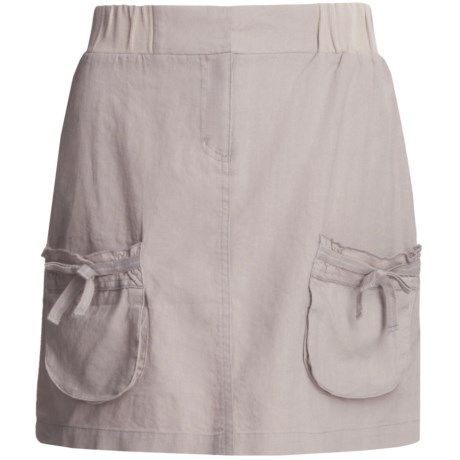 Carve Designs Lanikai Skirt - Washed Linen-Cotton (For Women)