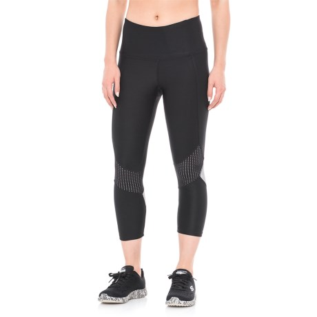 RBX Foil and Mesh Blocked Capris (For Women)