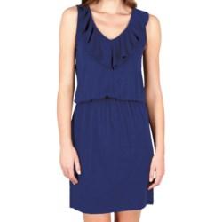 Lilla P Flame Modal Blouson Dress - Ruffle V-Neck, Sleeveless (For Women)