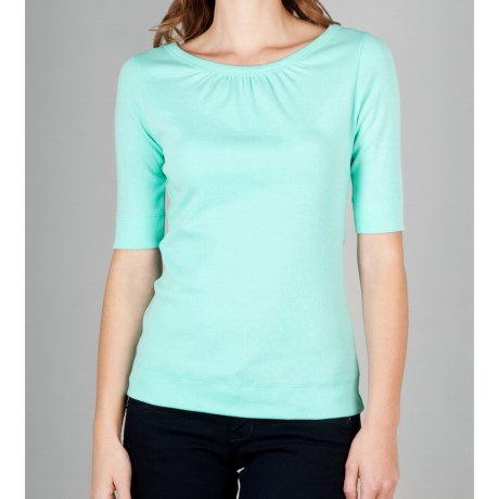 Lilla P Classic Bateau Neck Shirt - Elbow Sleeve (For Women)
